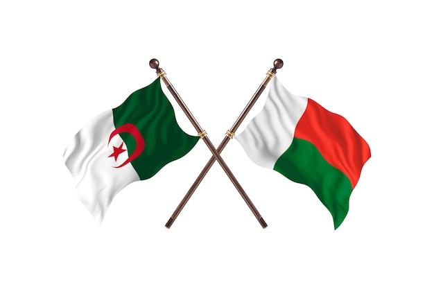 Algerije versus madagascar two flags