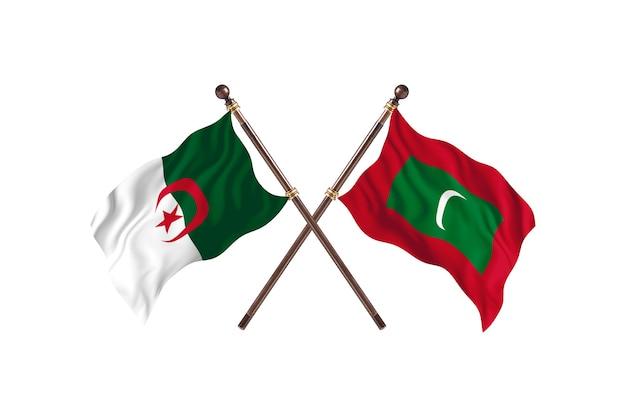 Algerije versus malediven two flags