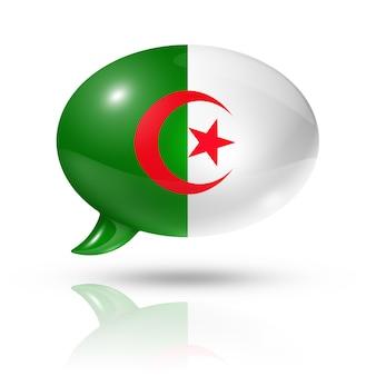 Algerijnse vlag tekstballon