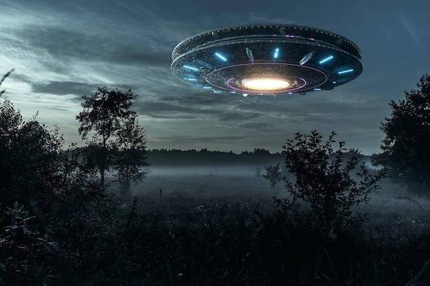 Alien space shift zwevend in de lucht