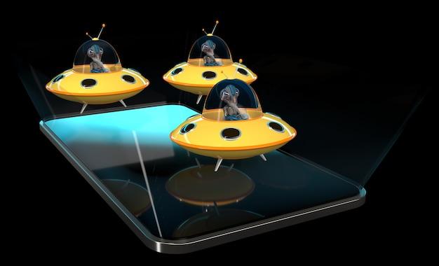 Aliens - 3d illustratie