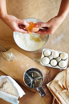 Alle ingrediënten voor het bakken