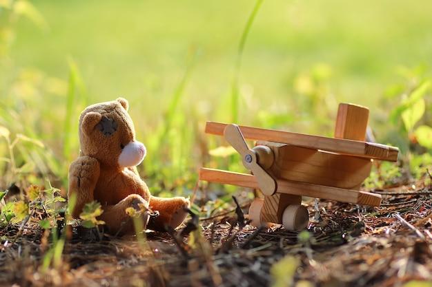 Alleen speelgoed op de grond