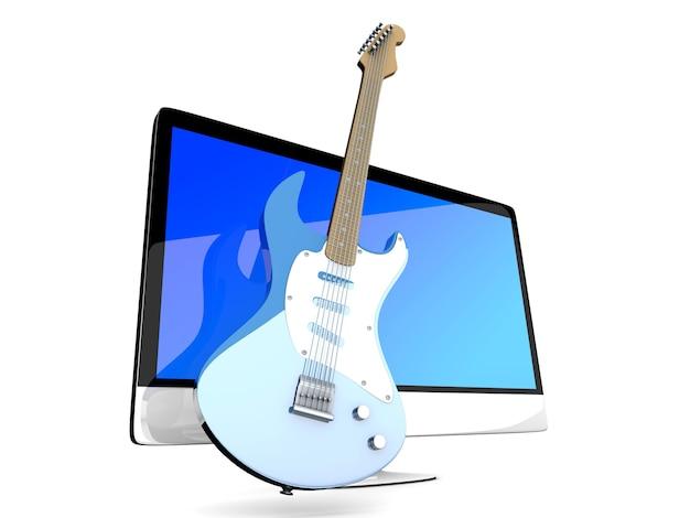 Alles in één computer met een gitaar.