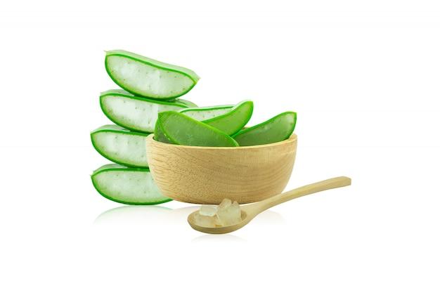 Aloë vera vers isoleerde een zeer nuttig kruidengeneesmiddel voor huidverzorging en haarverzorging.