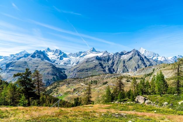 Alpenbergen in zermatt, zwitserland