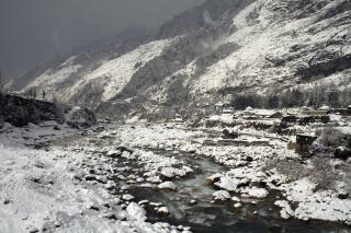 Alpine uitzicht, de natuur