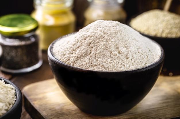 Alternatief rijstmeel, rijk aan mangaan en effectief bij botziekten