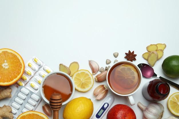 Alternatieve koude behandeling met verschillende elementen