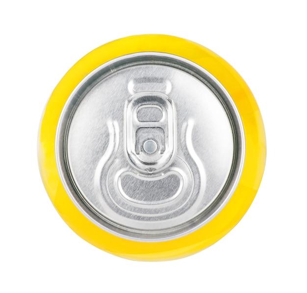 Aluminium blikje geïsoleerd op wit