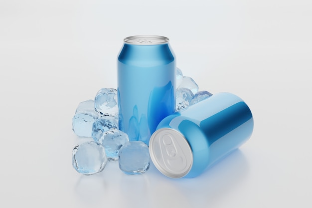 Aluminium blikjes verschillende maten voor frisdrank of bier.