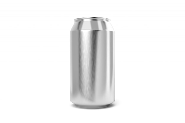 Aluminium frisdrankblikje geïsoleerd
