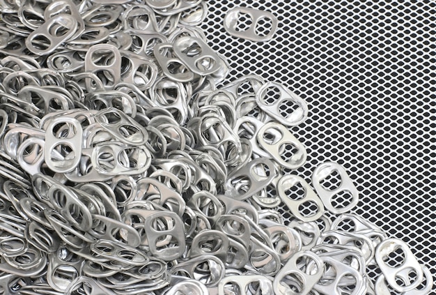 Aluminium kan lus textuur achtergrond openen