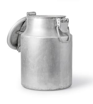 Aluminium melk kan op wit