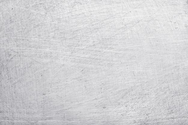 Aluminium metalen textuur achtergrond, krassen op gepolijst roestvrij staal.