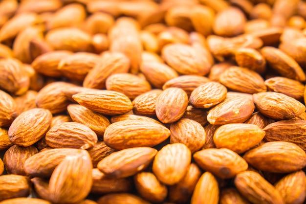 Amandelen noten texturen en oppervlak met patroon