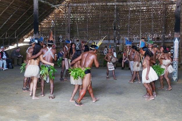 Amazon rio brazilië negro indianen regenwoud