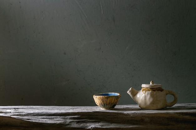 Ambacht keramische theepot