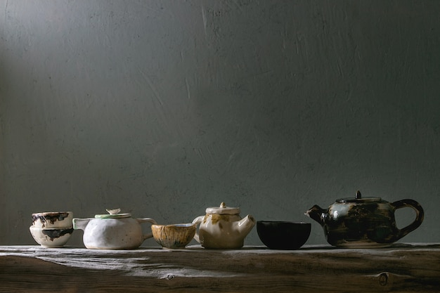 Ambacht keramische theepotten