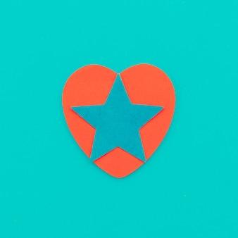 Ambacht minimaal. star en heart candy kleuren concept