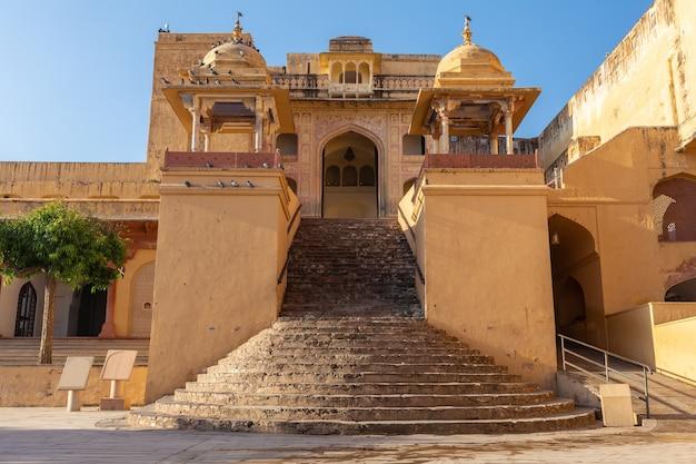 Amber fort, shila devi-tempel in jaipur, rajasthan, india.