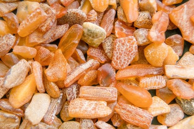 Amberstenen uit de oostzee, vintage versteende hars.