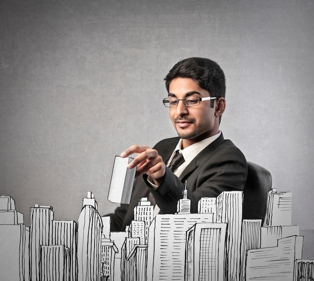 Ambitieuze aziatische zakenman