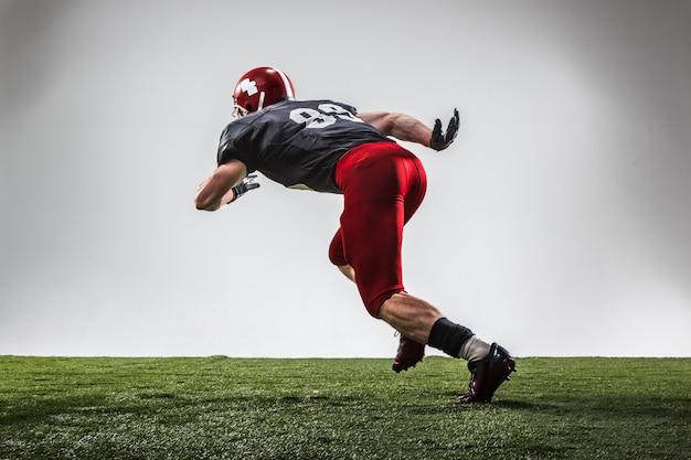 American football-speler in actie