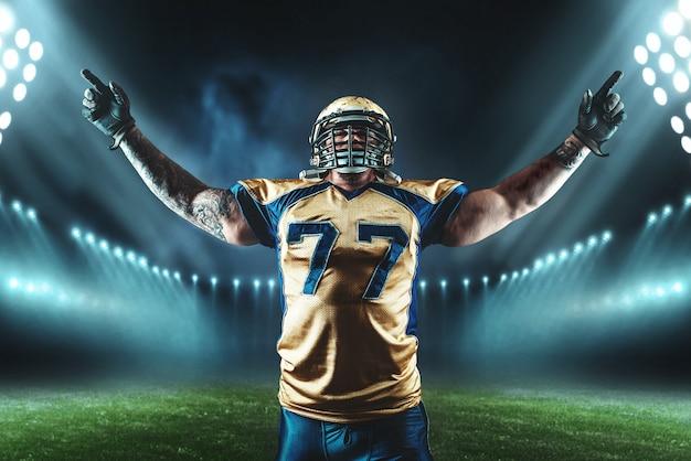 American football-speler, spelwinnend