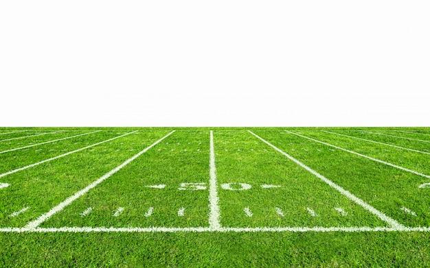 American football veld met lijn