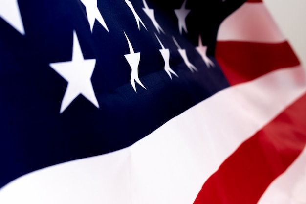 Amerika vlag voor memorial day of independence day concept.