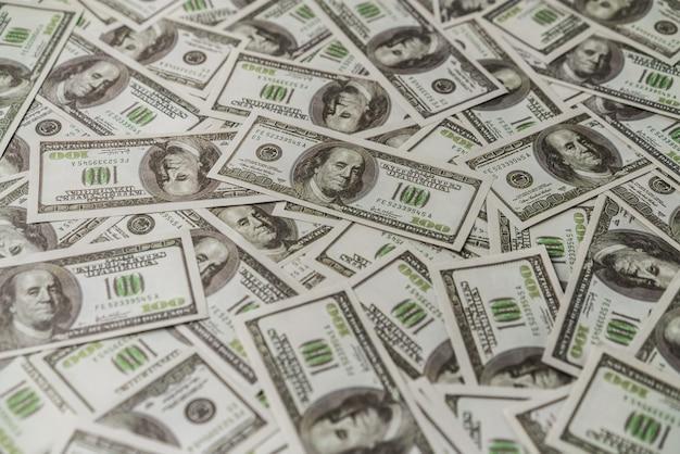 Amerikaans honderd dollar papieren bankbiljet.
