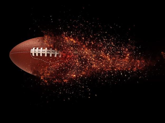 Amerikaans voetbal en brandexplosie