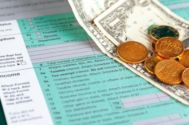 Amerikaanse aangifte inkomstenbelasting.