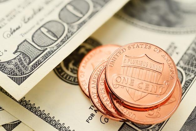 Amerikaanse dollars en centen
