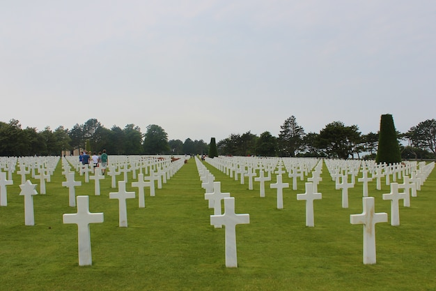 Amerikaanse militaire begraafplaats in colleville