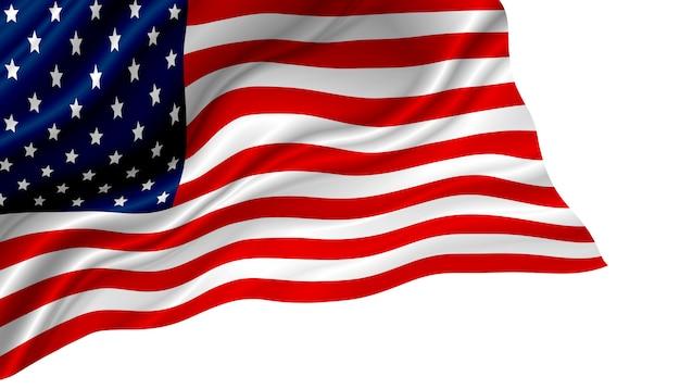 Amerikaanse of amerikaanse vlag geïsoleerd