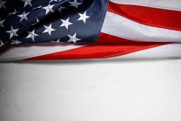 Amerikaanse vlag achtergrond voor memorial day of 4 juli