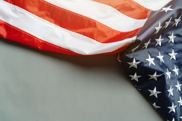 Amerikaanse vlag op abstracte achtergrond