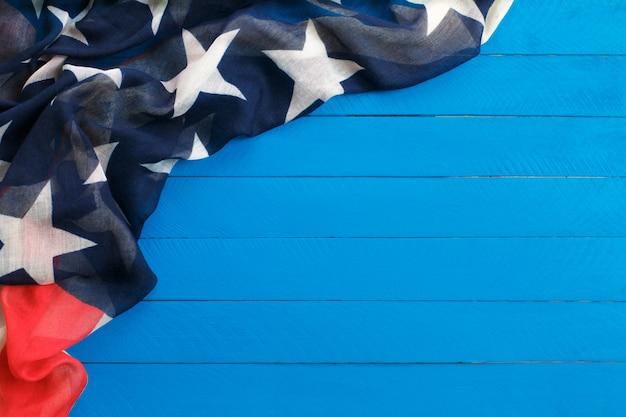 Amerikaanse vlag op houten