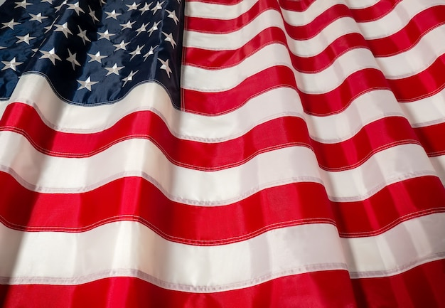 Amerikaanse vlag van de onafhankelijkheidsdag van de vs op 4 juli memorial day veterans day labor day blur