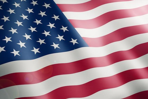 Amerikaanse vlag van de verenigde staten van amerika