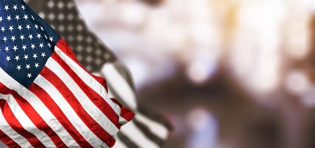 Amerikaanse vlag voor memorial day, 4 juli, labor day. onafhankelijkheidsdag.