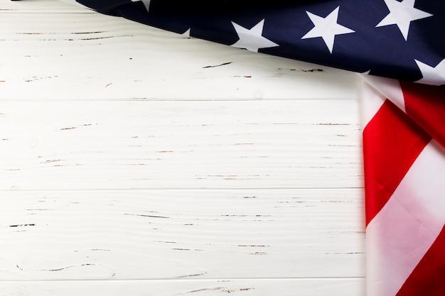 Amerikaanse vlagachtergrond met copyspace