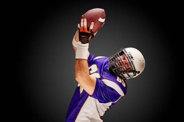 Amerikaanse voetbalsportman speler. sport concept.