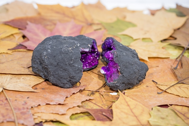 Amethist edelstenen juweel steen.