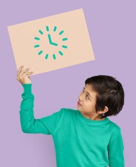 Analoge mechanische klok horloge illustratie