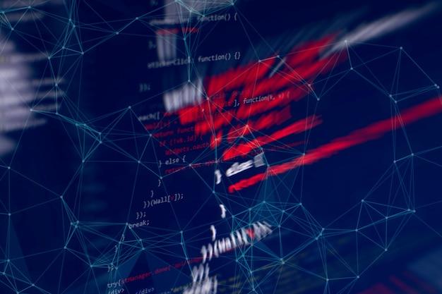 Analyseren in forexmarkt met digitaal nummer en grafiek: de aandelenmarktgrafieken en samenvattende informatie op papier. grafieken van financiële instrumenten voor technische analyse.
