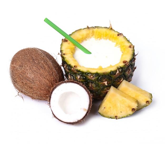 Ananas en kokos
