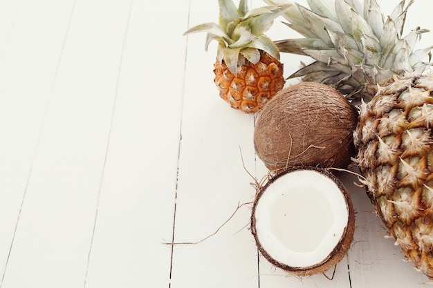 Ananas met kokosnoot